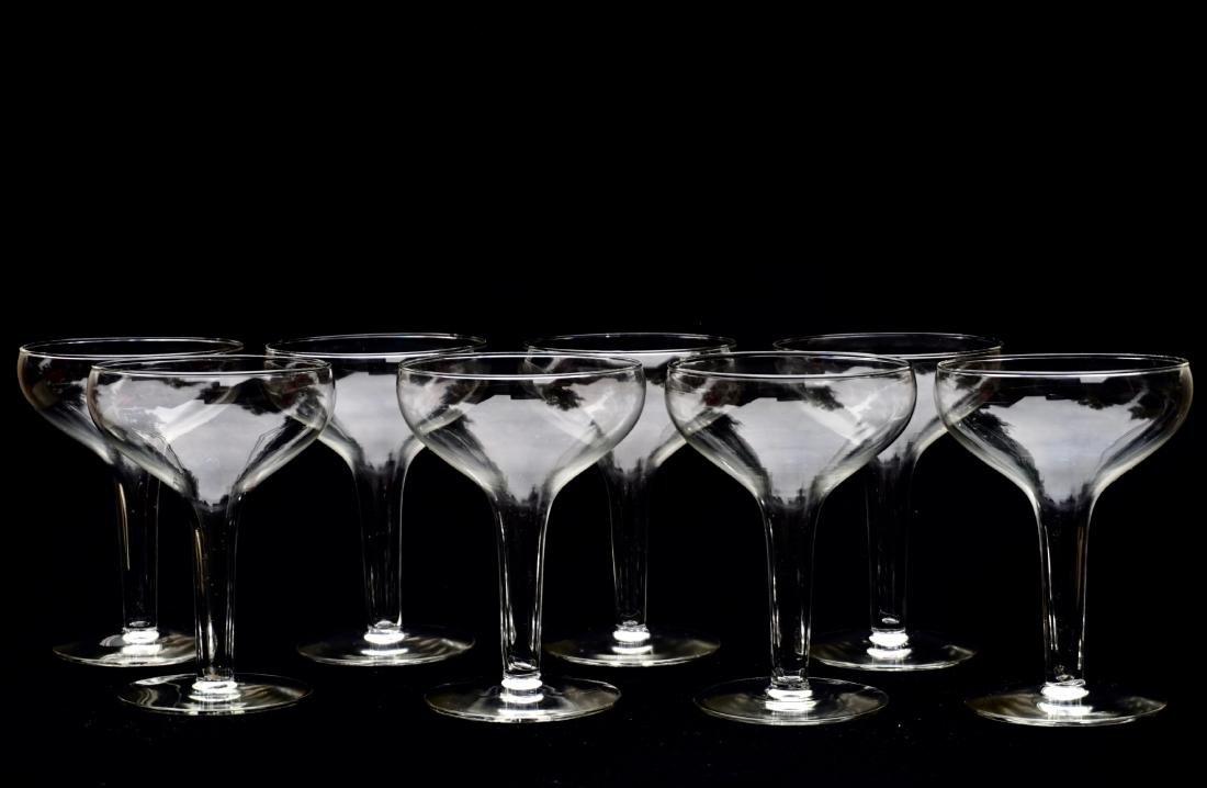 Hollow Stem Champagne Glass Coupe Vintage Stemware Lot