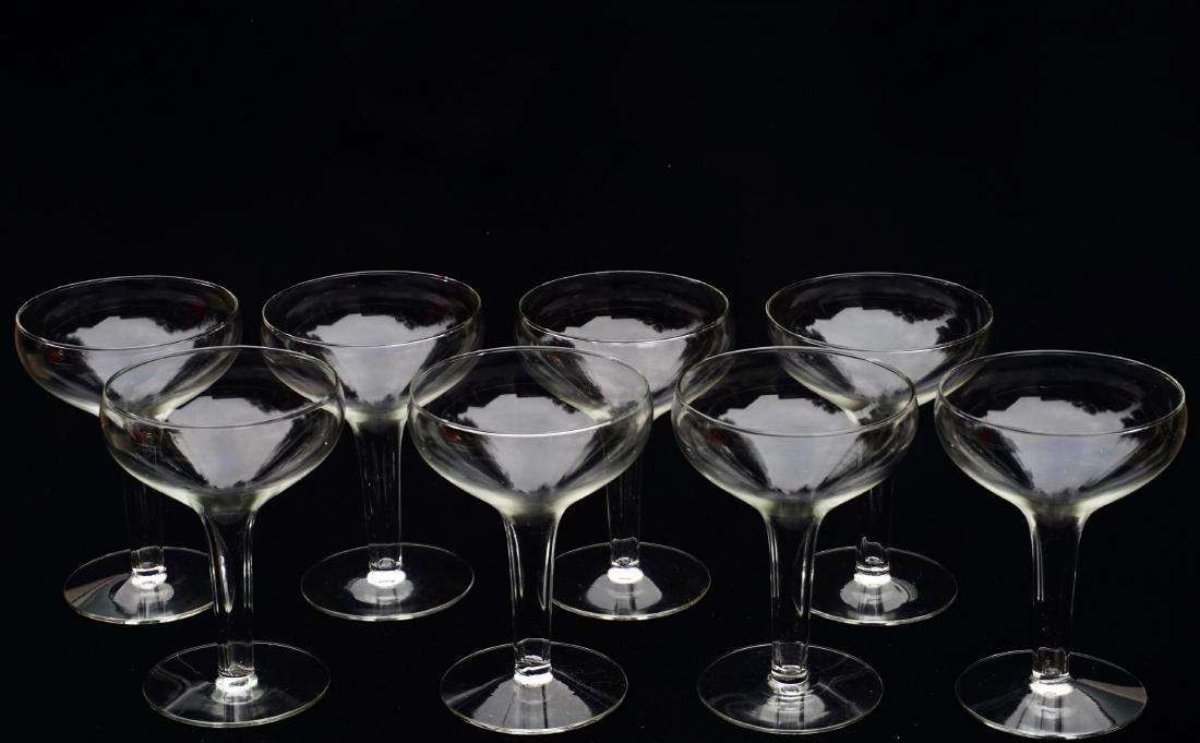 Hollow Stem Champagne Glass Coupe Vintage Stemware Lot - 2