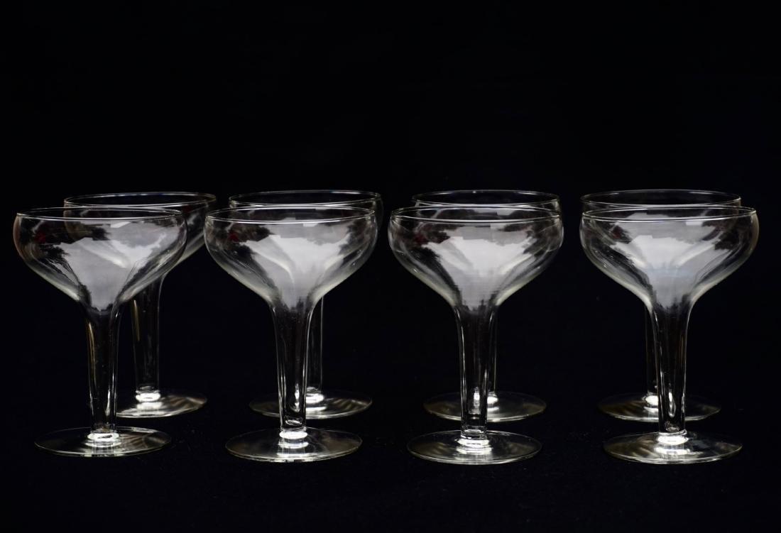 Hollow Stem Champagne Glass Coupe Vintage Stemware Lot - 3
