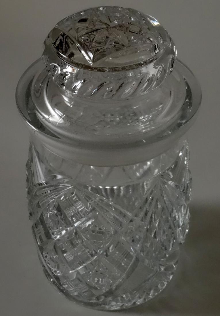 EAPG Pressed Glass Humidor Jar Tobacco Cigar Storage - 2