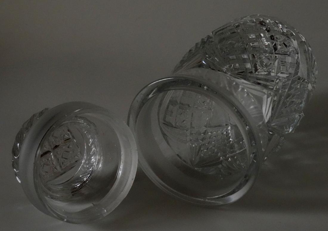 EAPG Pressed Glass Humidor Jar Tobacco Cigar Storage - 3