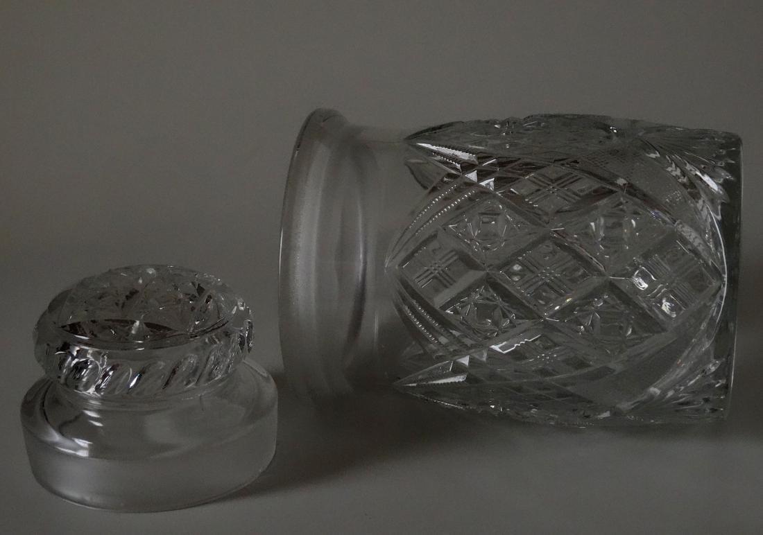 EAPG Pressed Glass Humidor Jar Tobacco Cigar Storage - 4