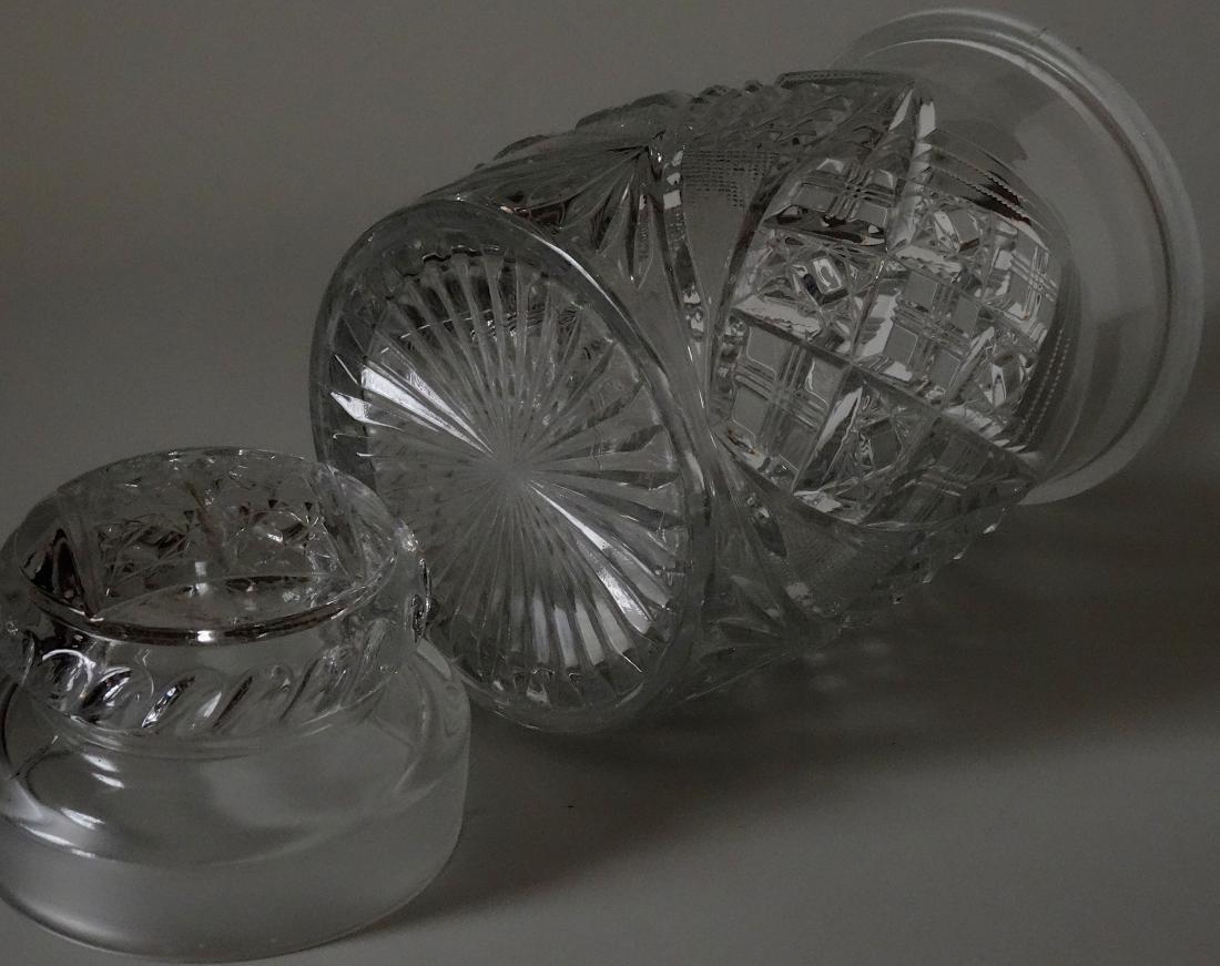 EAPG Pressed Glass Humidor Jar Tobacco Cigar Storage - 7