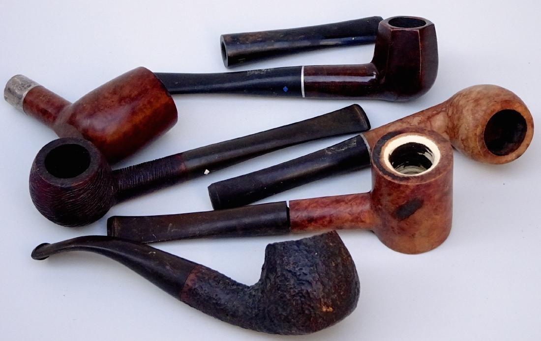 Lot of 6 Vintage Tobacco Smoking Pipes