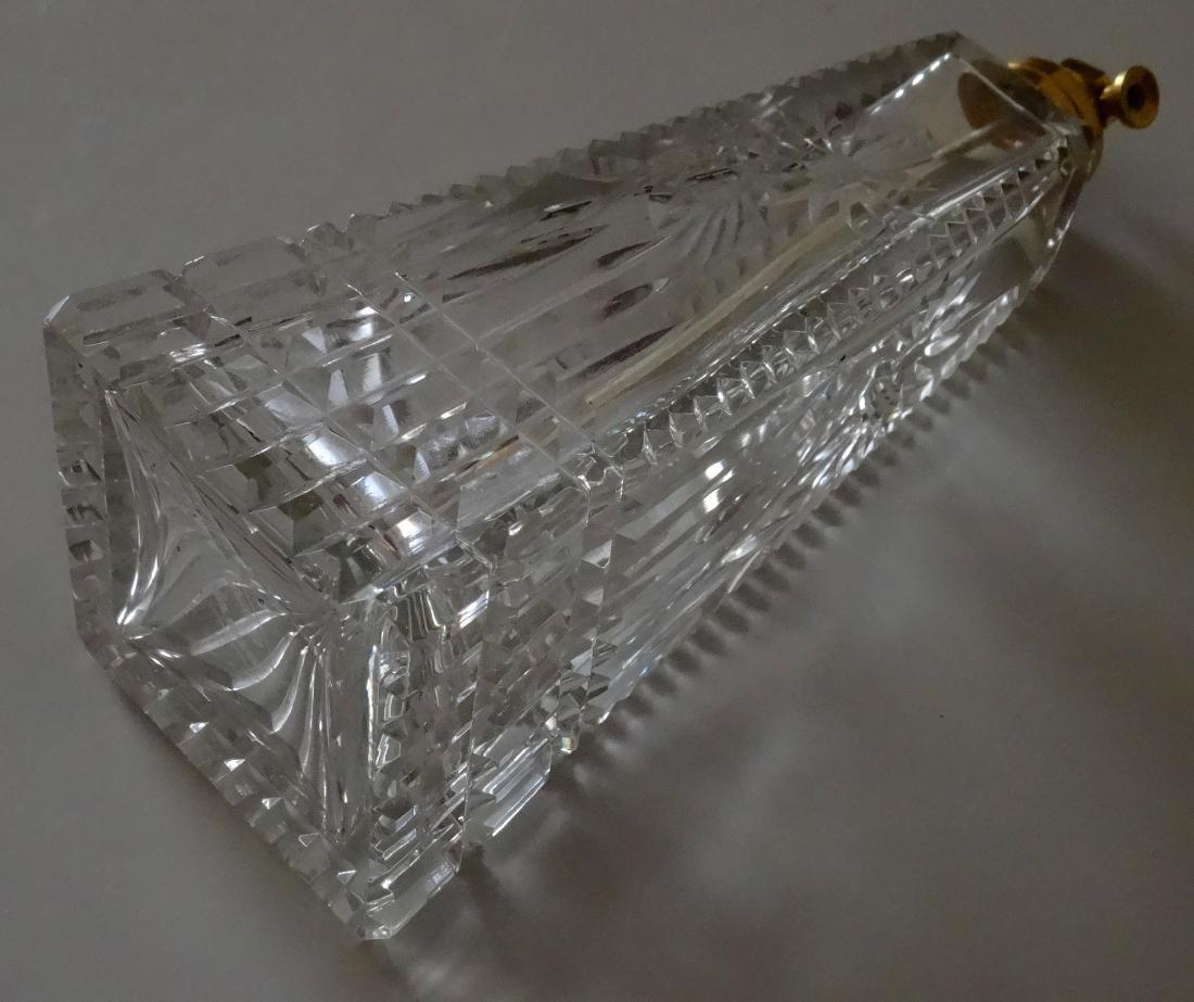 Fine Art Deco Crystal Perfume Bottle Atomizer - 3