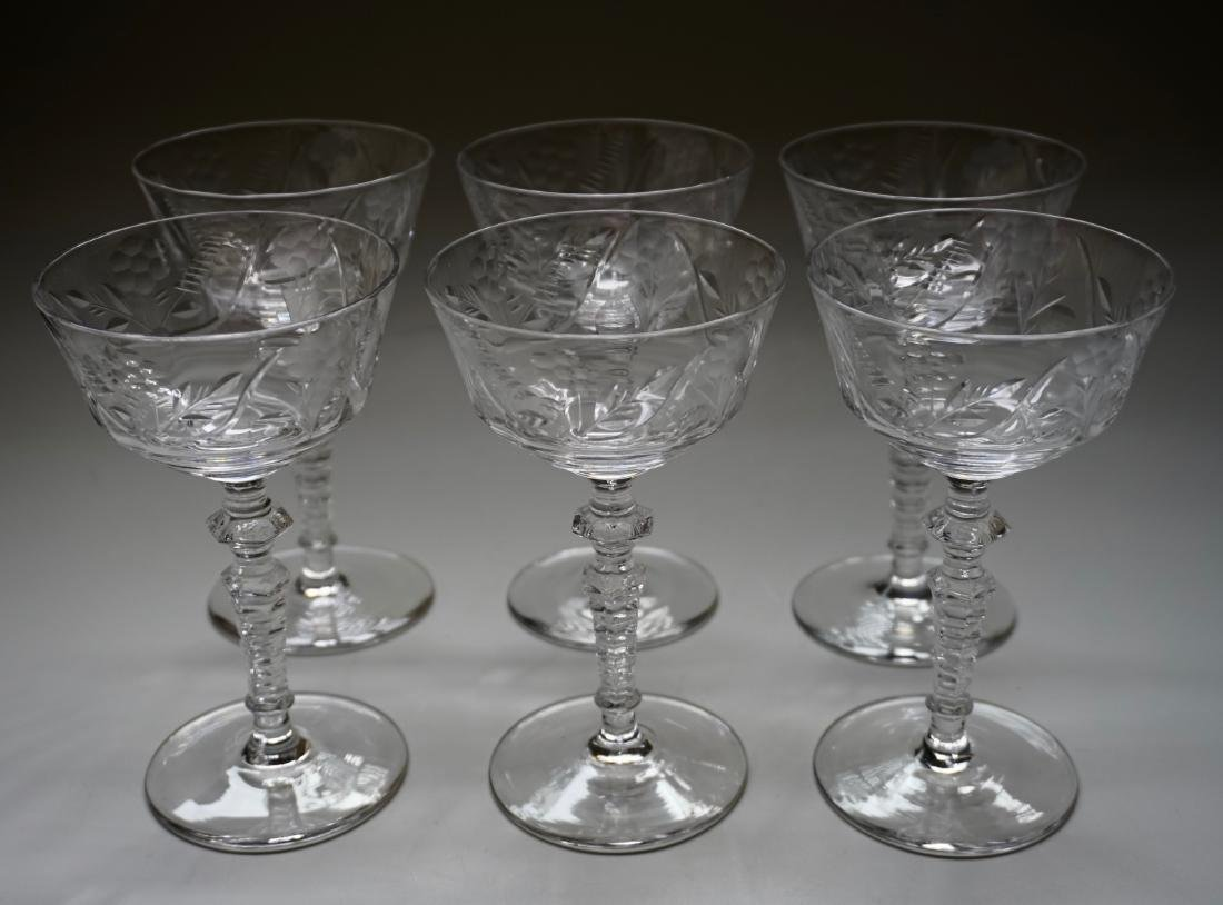 Vintage Rock Crystal Stemware Libbey Cocktail Glasses - 2