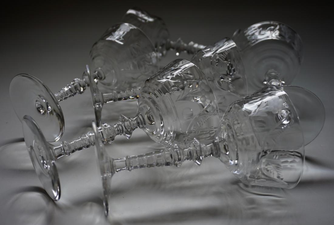 Vintage Rock Crystal Stemware Libbey Cocktail Glasses - 3