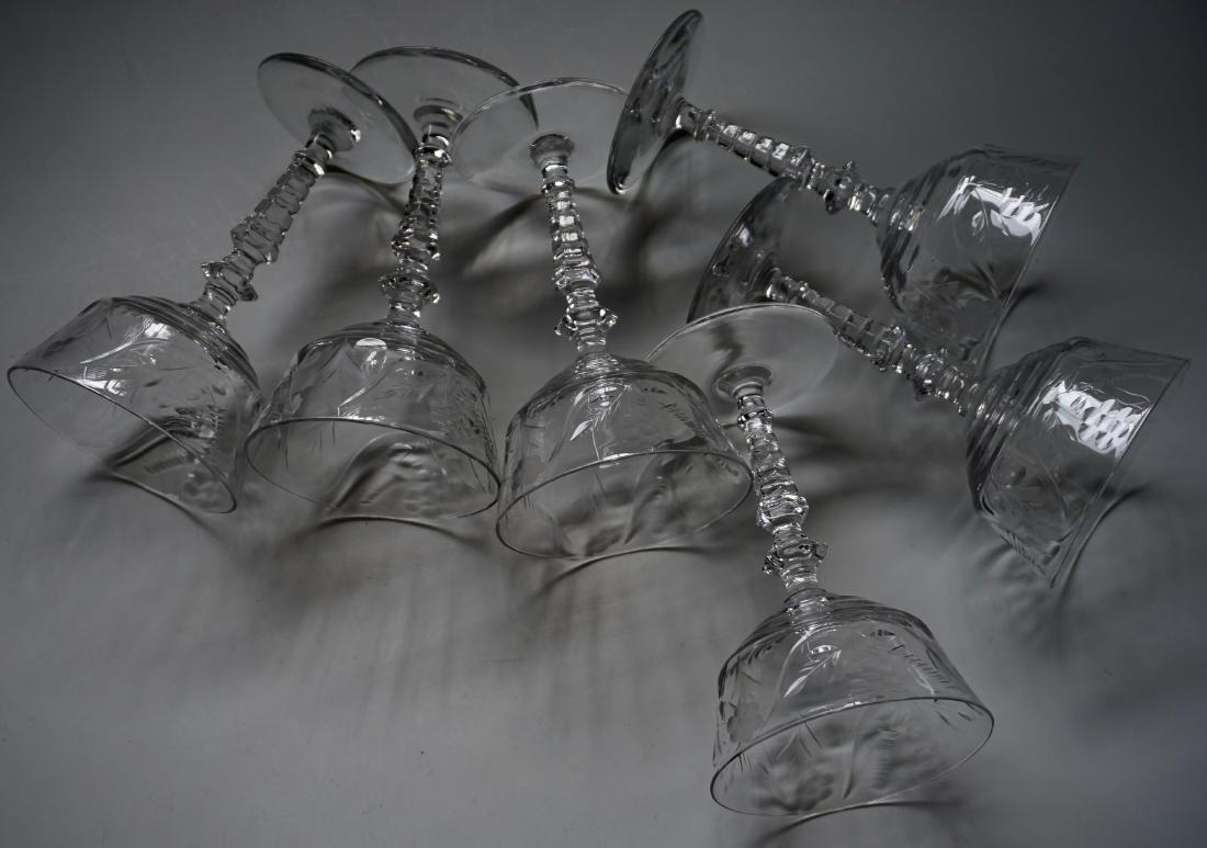 Vintage Rock Crystal Stemware Libbey Cocktail Glasses - 4