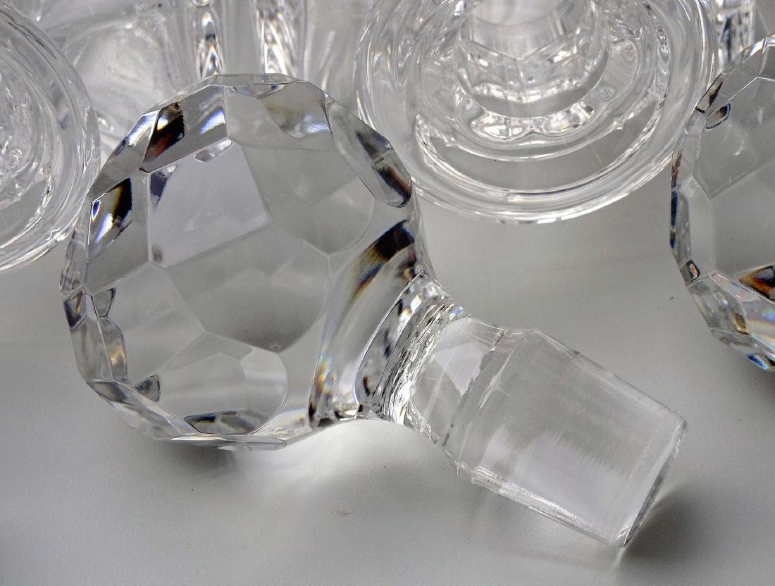 Lot of 3 Whiskey Crystal Decanters - 5