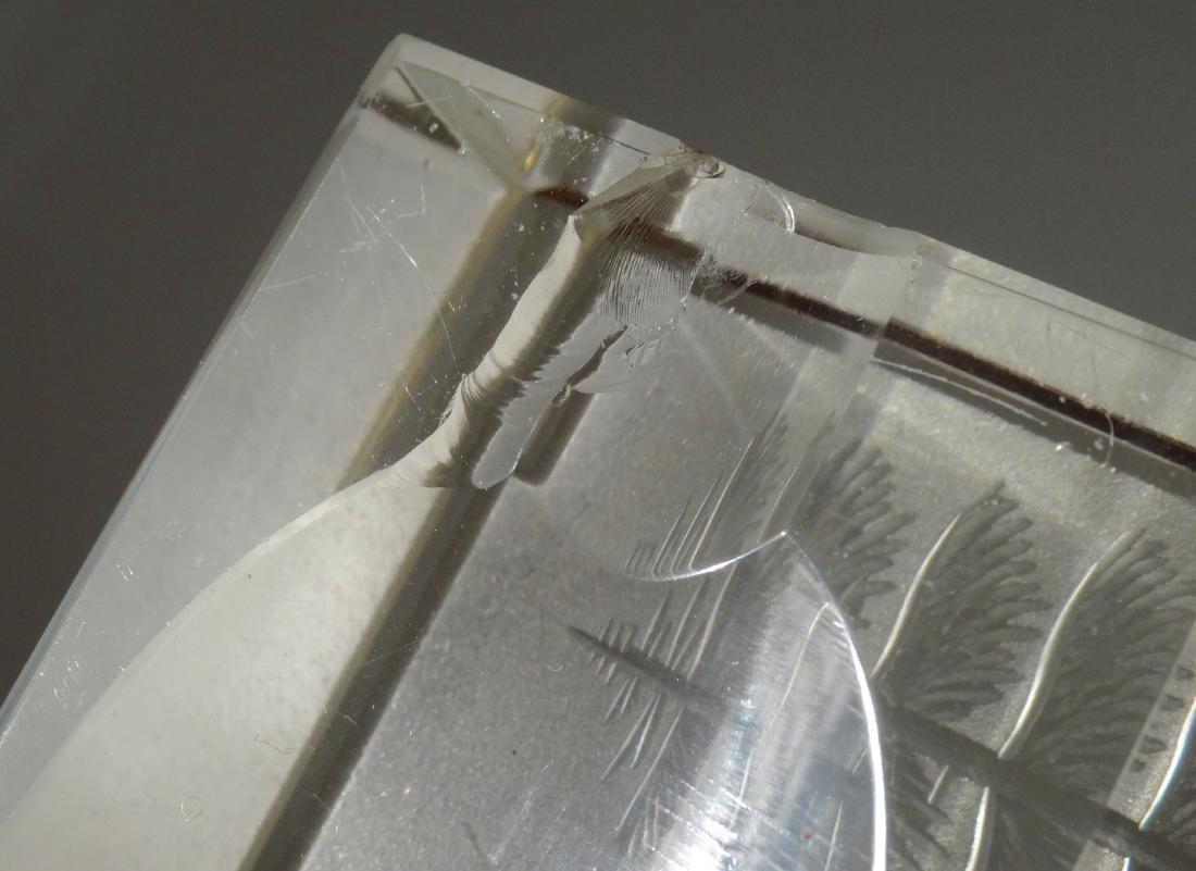 Bohemian Cut Glass Desktop Paperweight Pen Holder Lot - 8