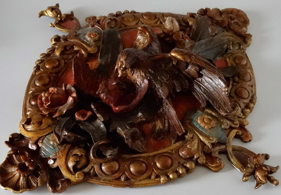 Vintage Architectural Wall Plaque High Relief Tropical - 8