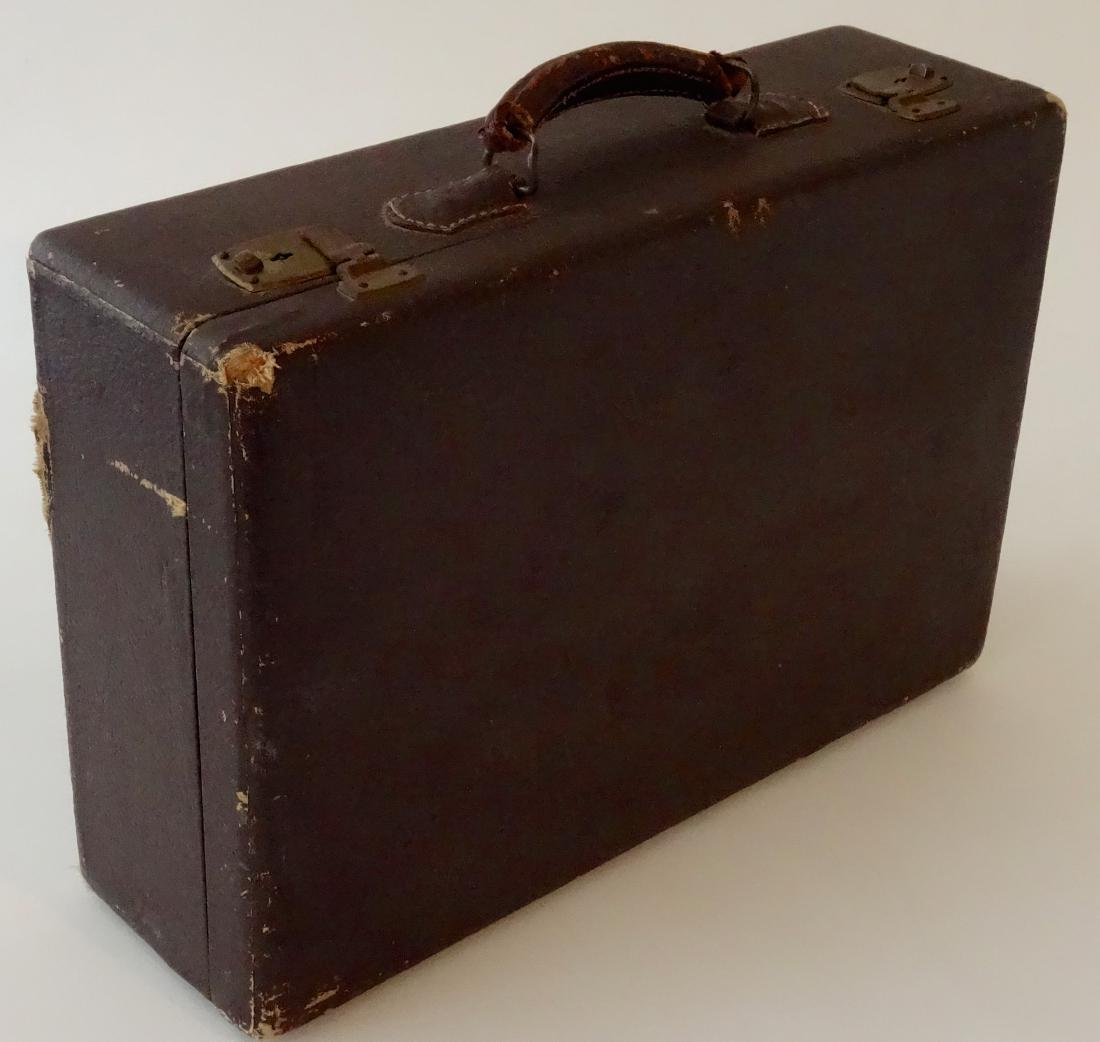 Antique Brown Suitcase Luggage Theatrical Prop - 2