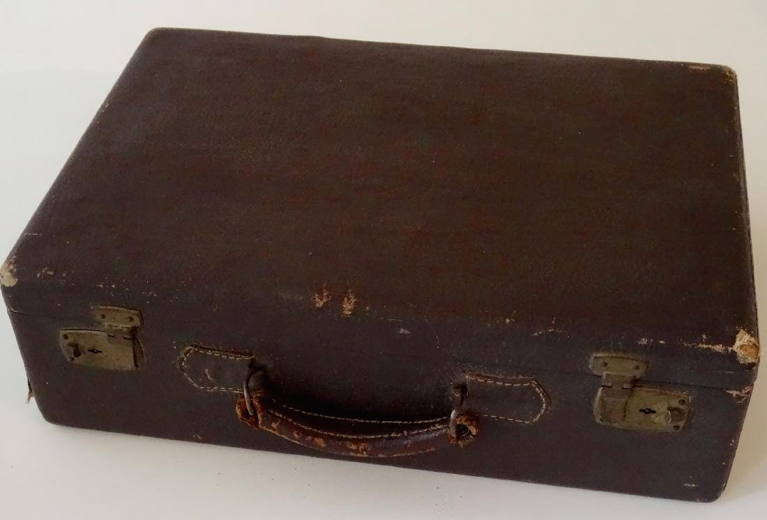 Antique Brown Suitcase Luggage Theatrical Prop - 5