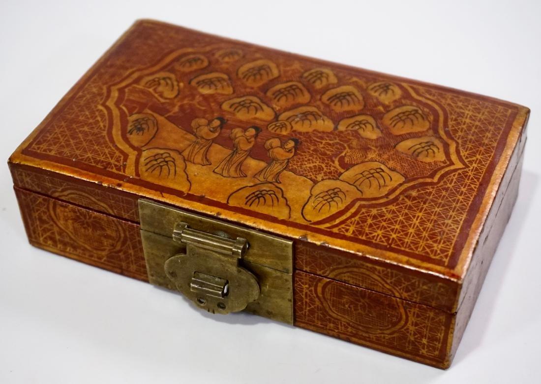 Chinese Hand Painted Jewelry Trinket Box