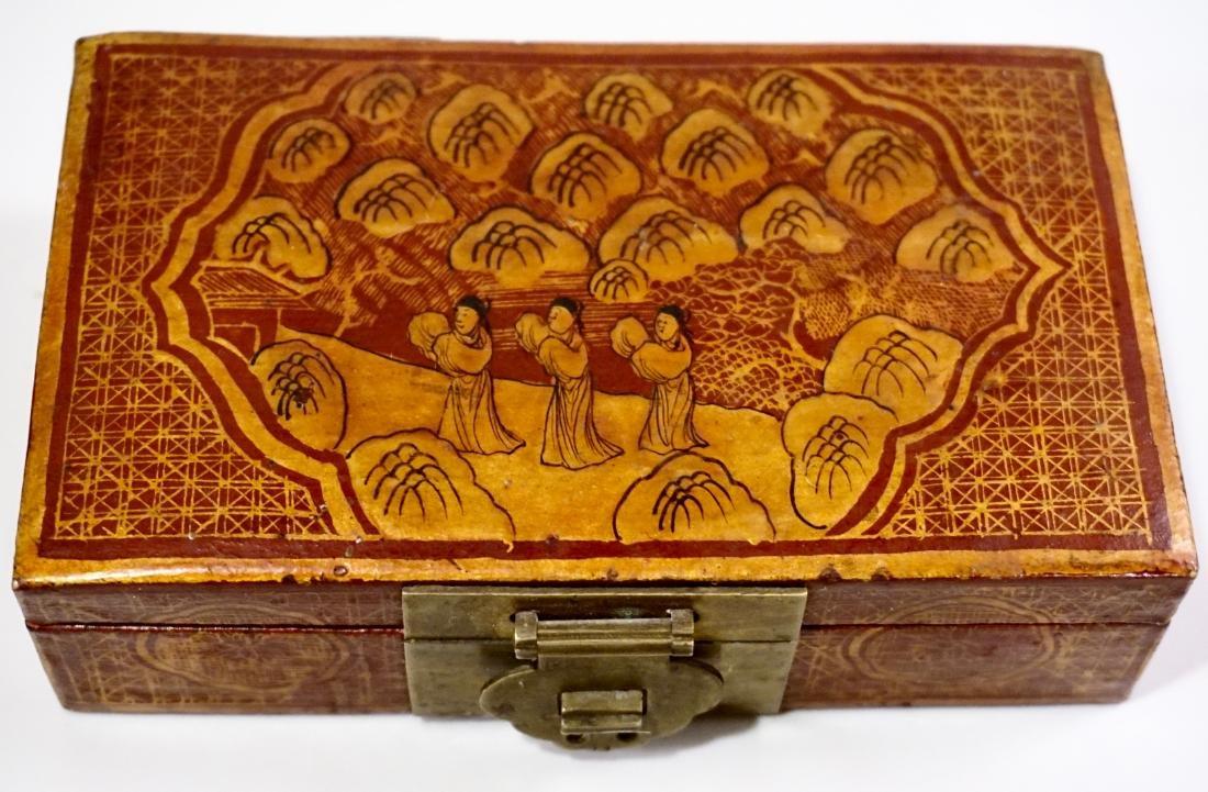 Chinese Hand Painted Jewelry Trinket Box - 2