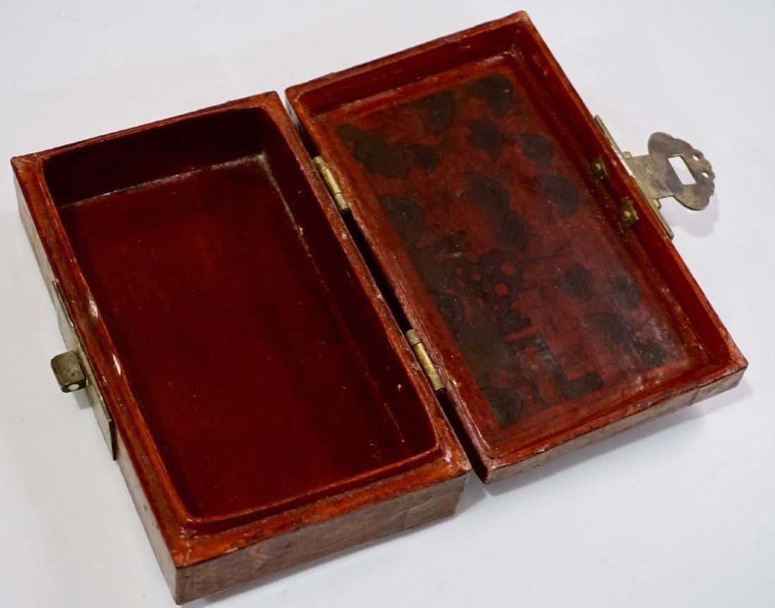 Chinese Hand Painted Jewelry Trinket Box - 5