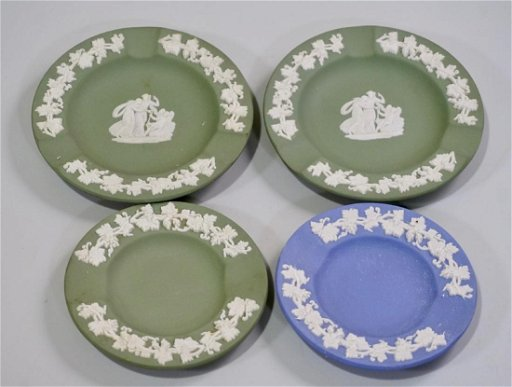 Wedgwood Jasperware Trinket Dish Lot Of 4 Small Plates Jan