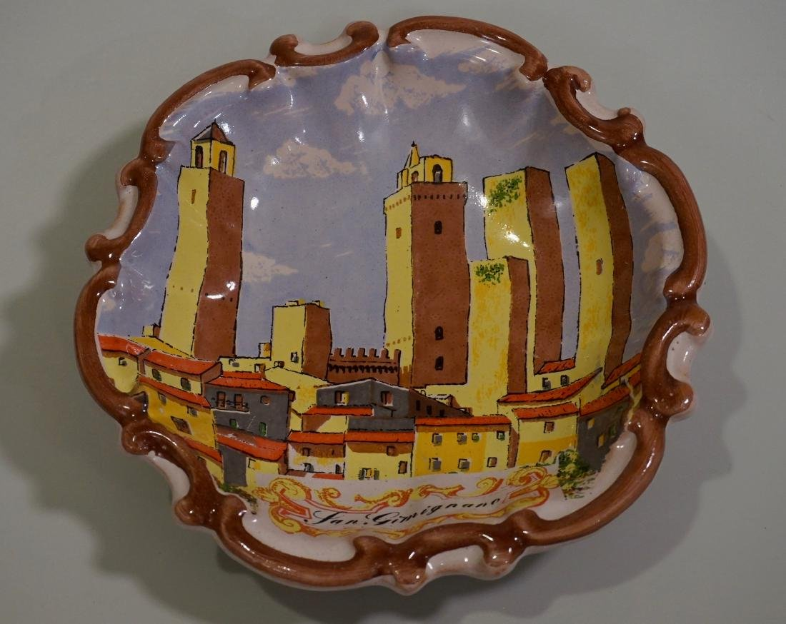 Italian Hand Painted Wall Plaques - 2