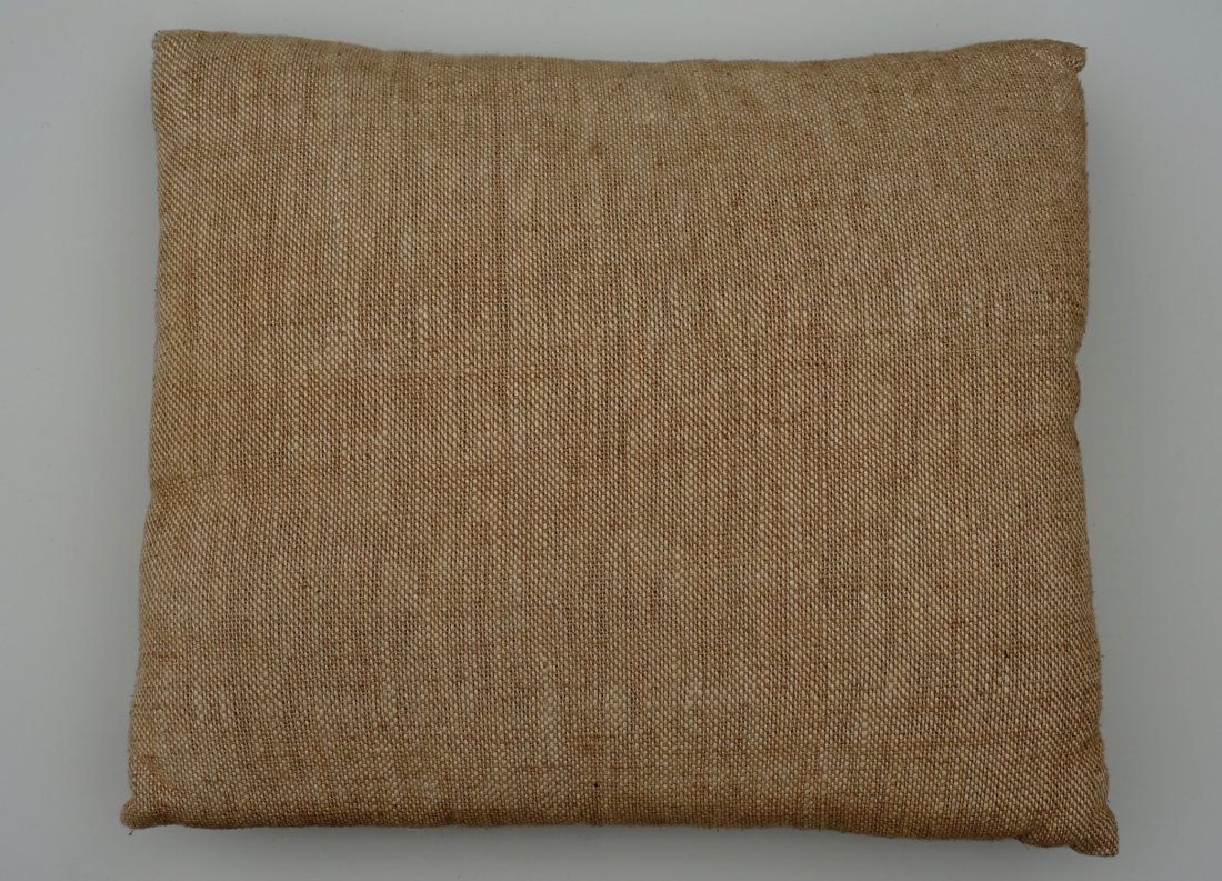Custom Made Designer Taupe Couch Pillow - 2