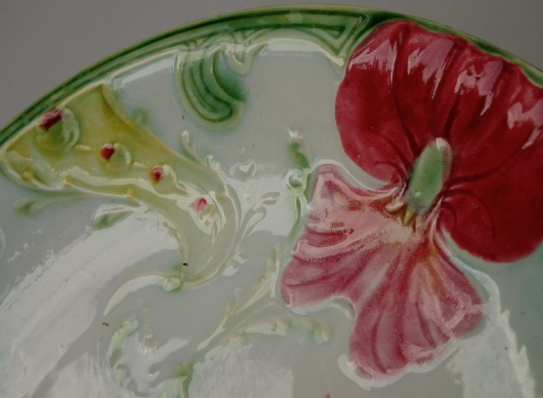 French Art Nouveau Faience Luneville Irises Majolica - 4
