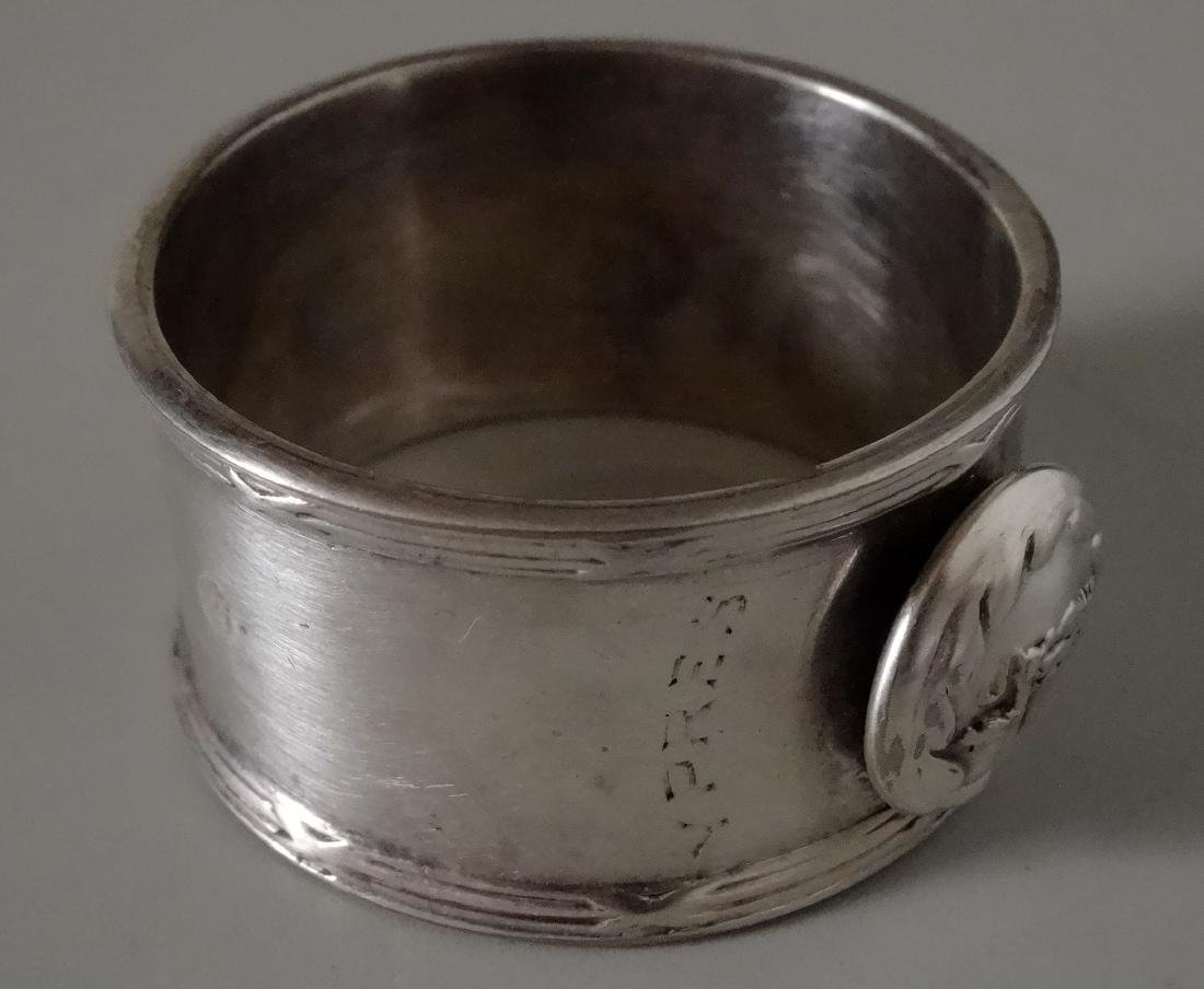 WW I Silver Plated Napkin Ring Battle of Langemarck