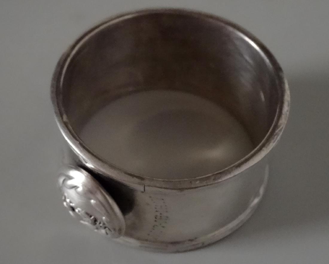 WW I Silver Plated Napkin Ring Battle of Langemarck - 2