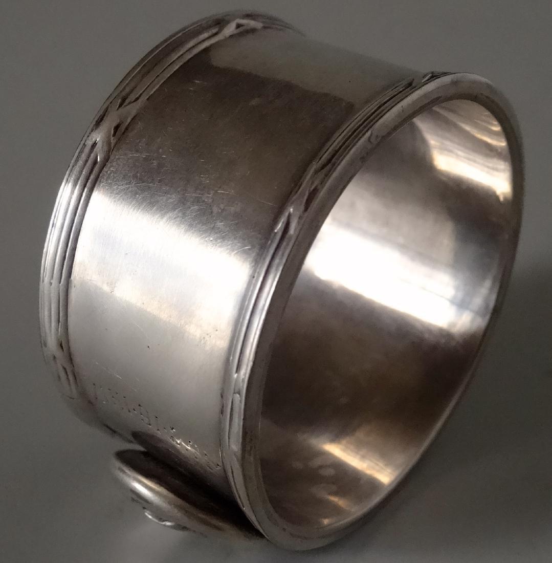 WW I Silver Plated Napkin Ring Battle of Langemarck - 3