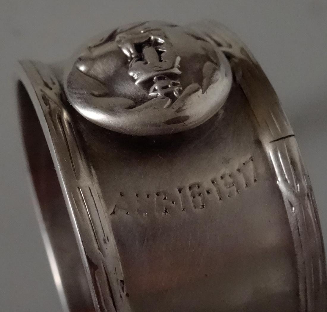 WW I Silver Plated Napkin Ring Battle of Langemarck - 4