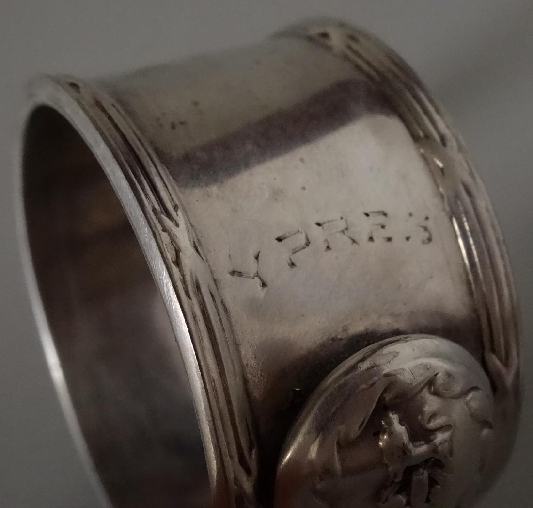 WW I Silver Plated Napkin Ring Battle of Langemarck - 5