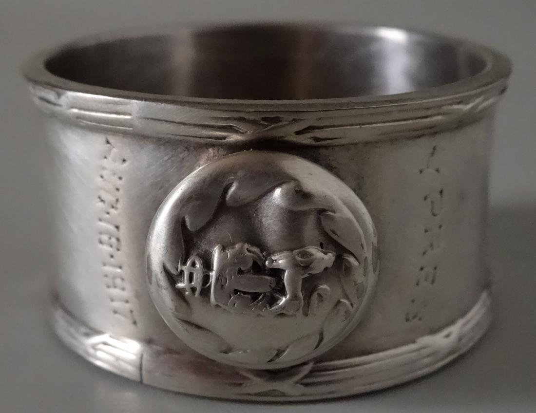 WW I Silver Plated Napkin Ring Battle of Langemarck - 6