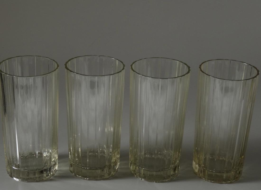 Vintage Art Deco Fluted Water Glass Lot of 4 Glasses