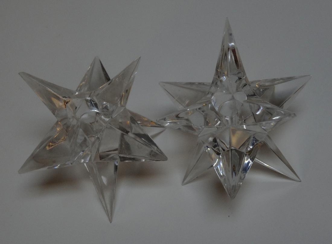 Vintage Art Deco Starburst Glass Candleholders - 2