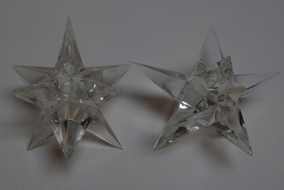 Vintage Art Deco Starburst Glass Candleholders - 4