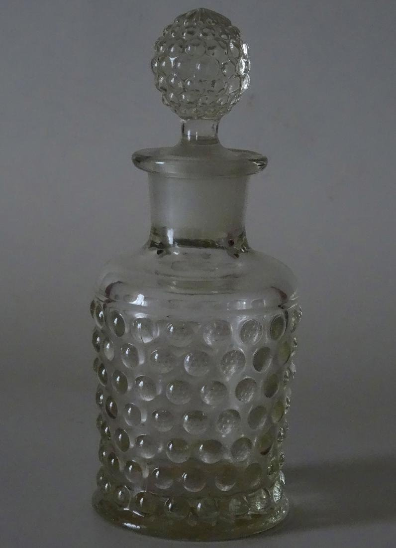 Antique Hobnail Pressed Glass Perfume Bottle