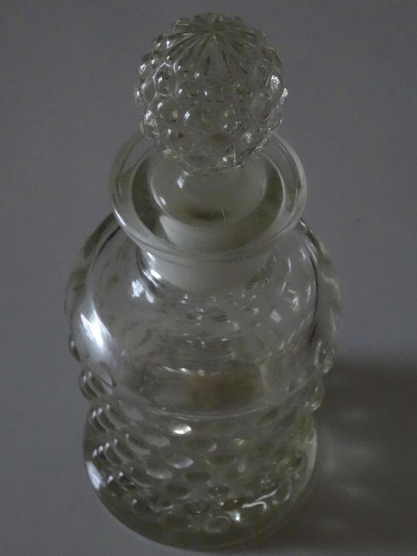 Antique Hobnail Pressed Glass Perfume Bottle - 2