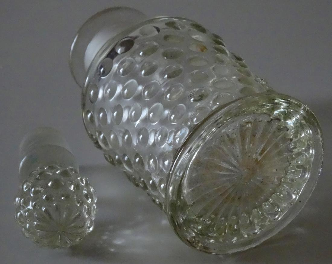 Antique Hobnail Pressed Glass Perfume Bottle - 5