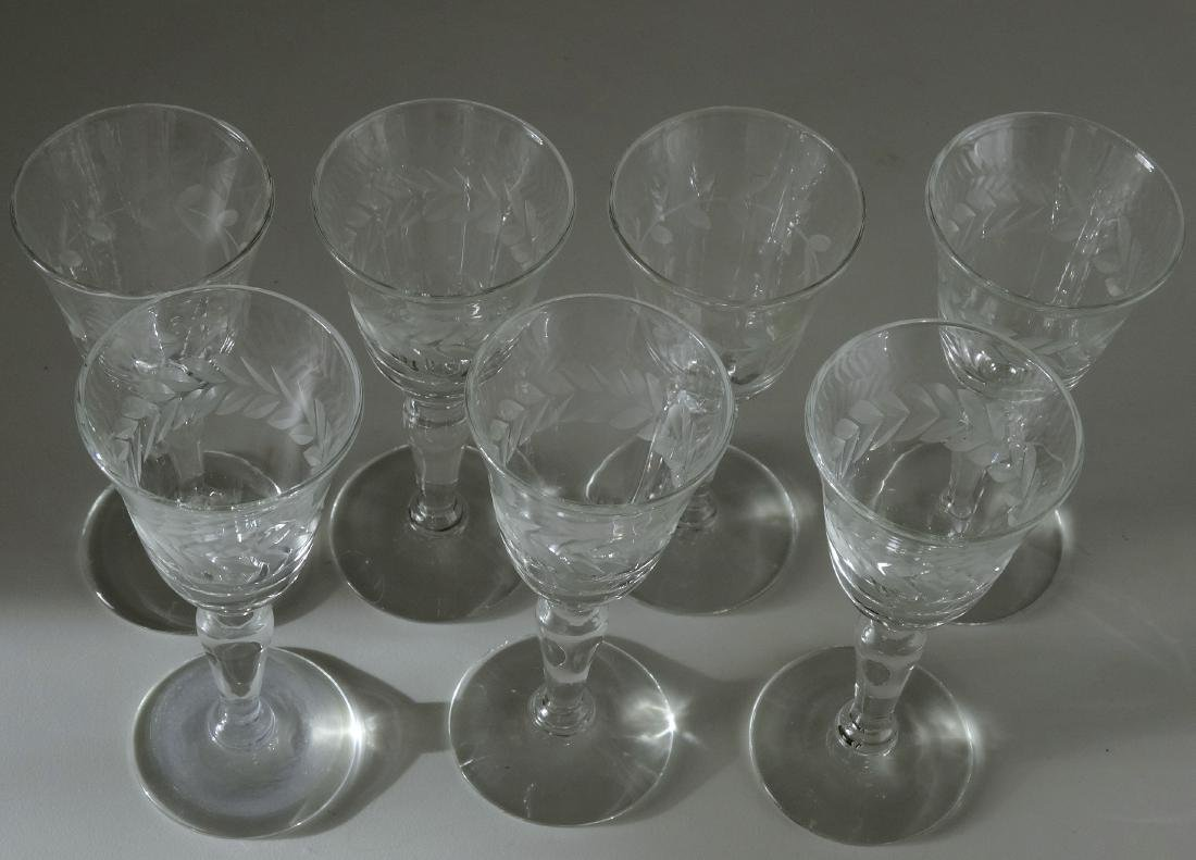 Vintage Cut Glass Cordials Stemware Shot Glasses Lot 7 - 2