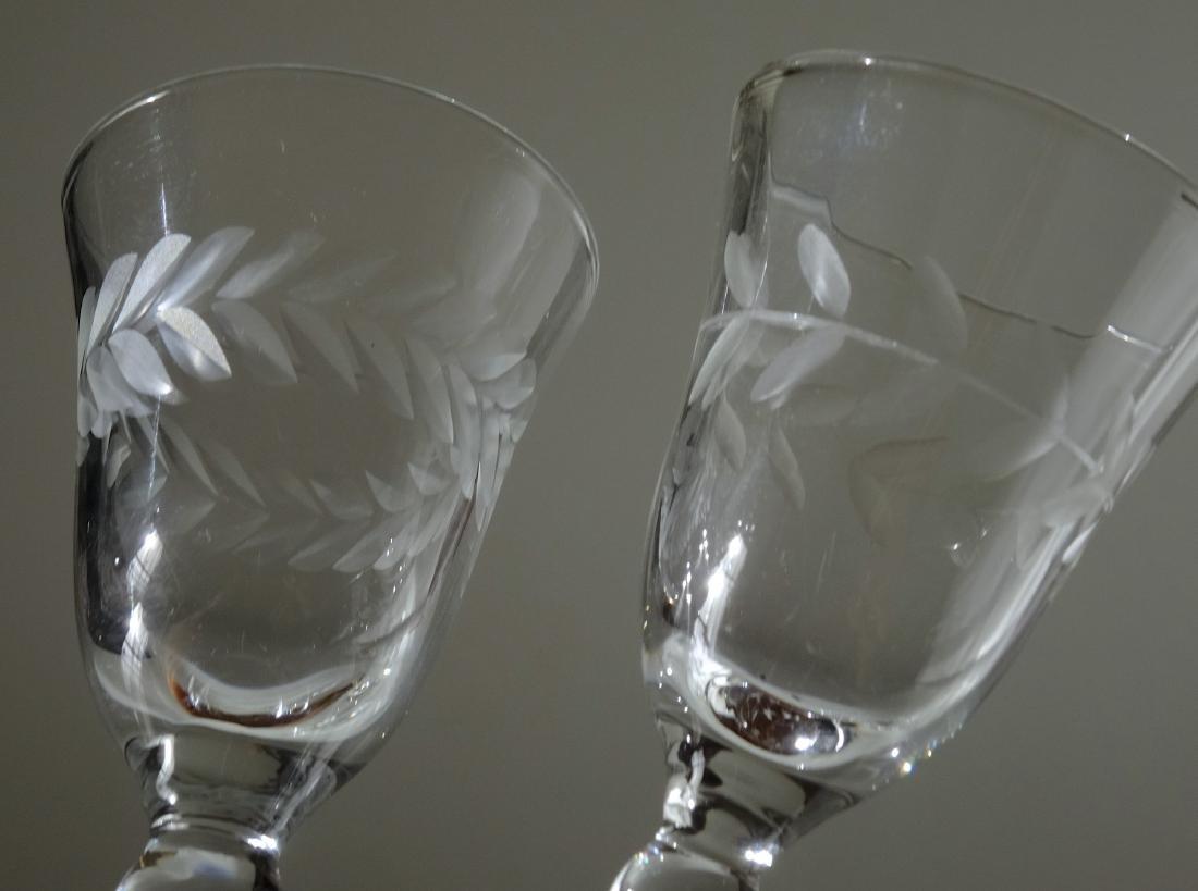Vintage Cut Glass Cordials Stemware Shot Glasses Lot 7 - 3