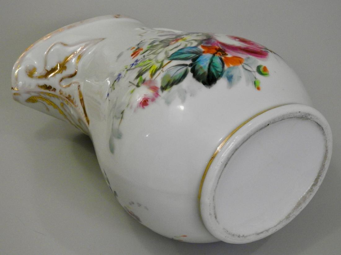 Antique Old Paris Porcelain Painted Pitcher Jug - 6