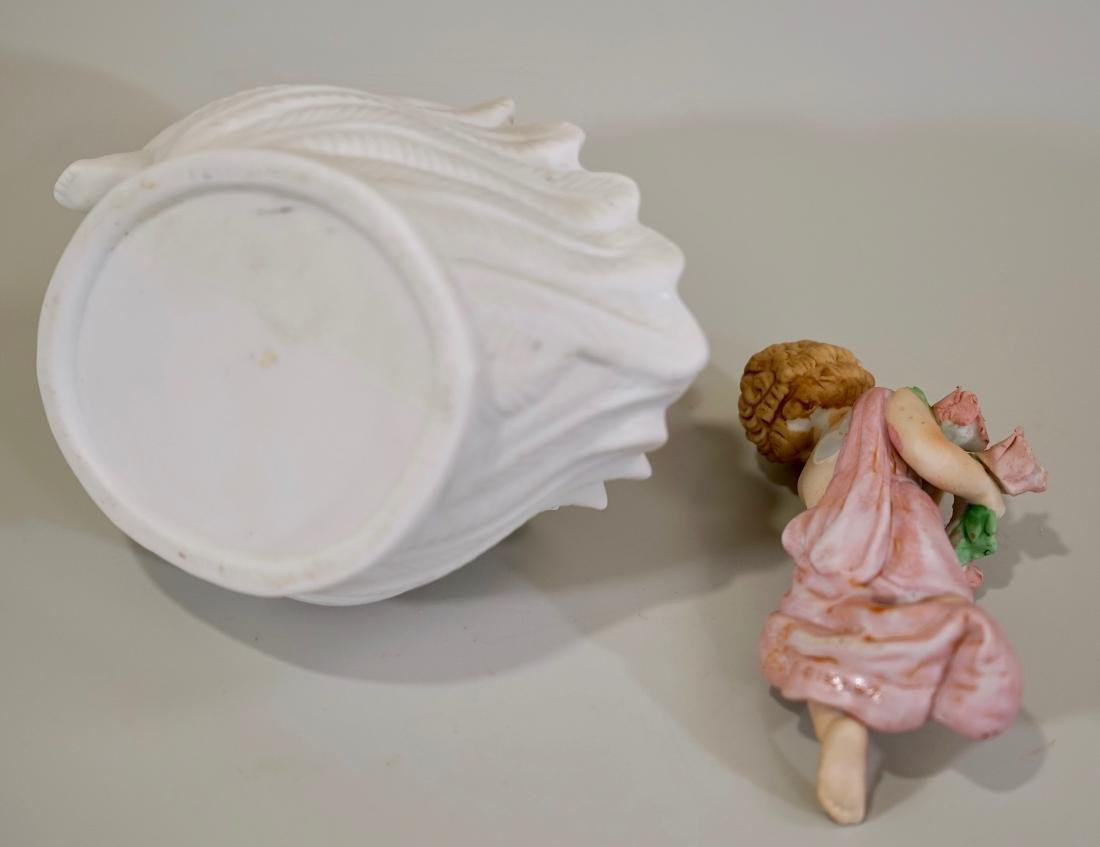 Bisque Porcelain Putti Figurines Lot of 2 - 6