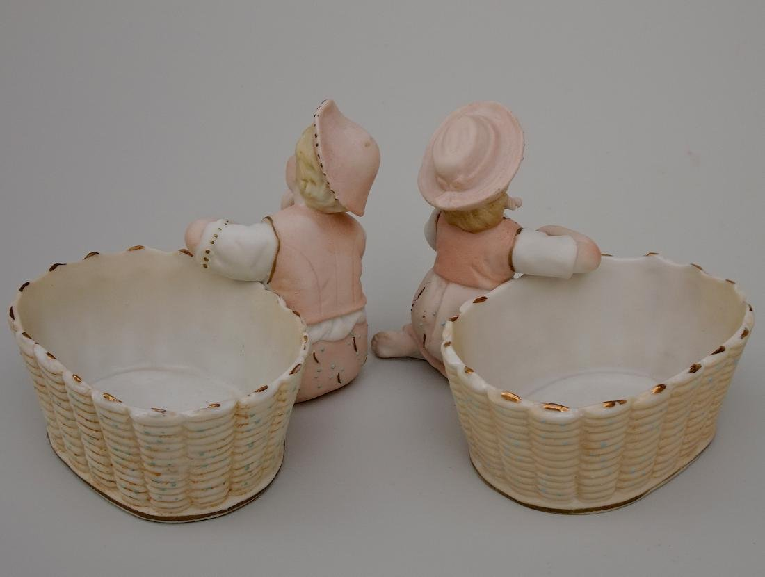 Vintage Bisque Porcelain Figurines Children next to - 3