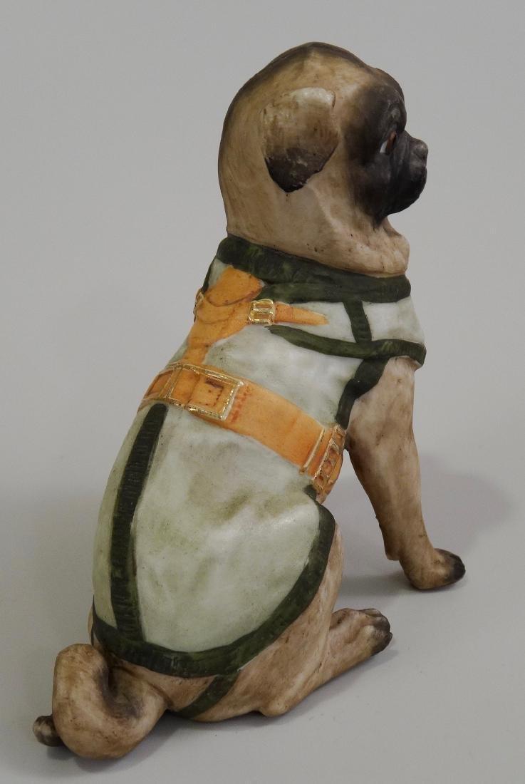 German Bisque Porcelain Pug Dog Figurine Ernst Bohne & - 5