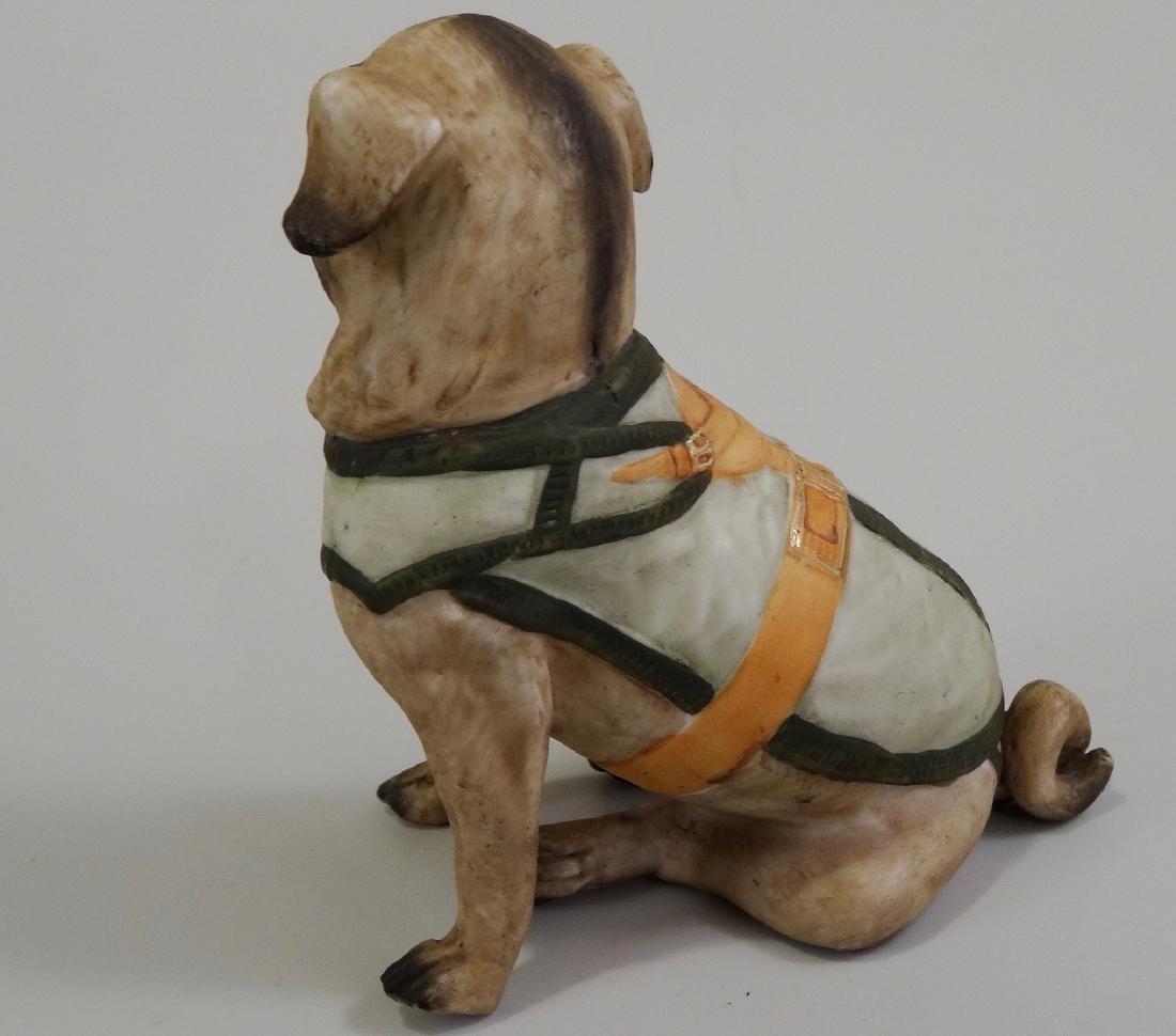German Bisque Porcelain Pug Dog Figurine Ernst Bohne & - 6