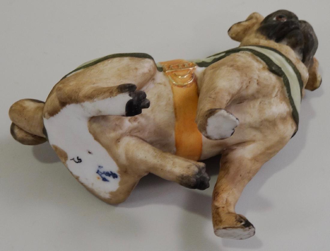German Bisque Porcelain Pug Dog Figurine Ernst Bohne & - 8
