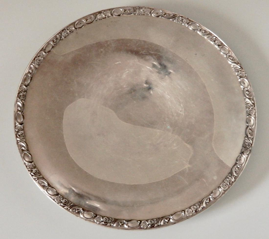 Rogers Silver Plate Victorian Rose Round Platter Tray - 2