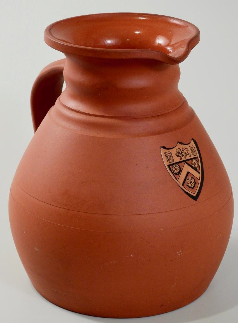 Antique Wedgwood Armorial Redware Pottery Jug Painted