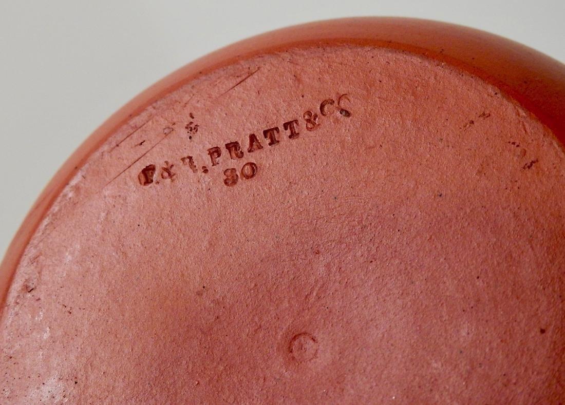 Antique English Redware Pitcher Pratt & Co Jug - 4