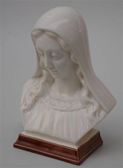 Vintage Glazed Ceramic Madonna Holland Mold Virgin Mary