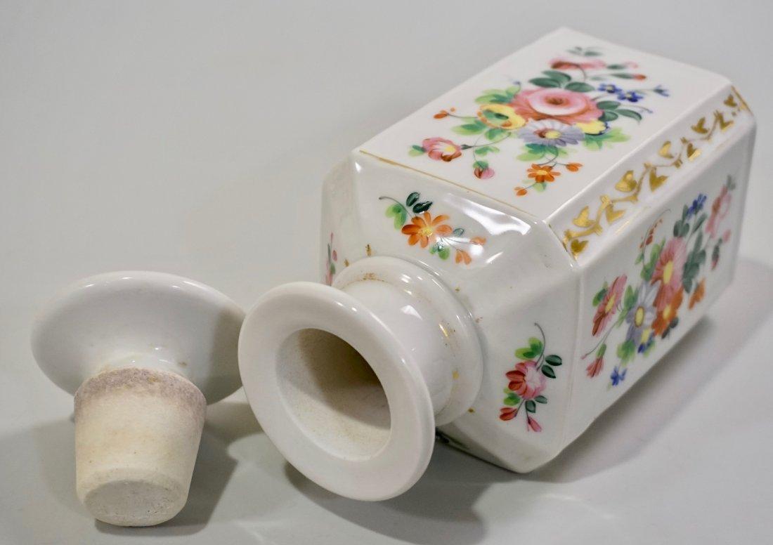 Old Paris Porcelain Cologne Scent Bottle Ground Stopper - 5