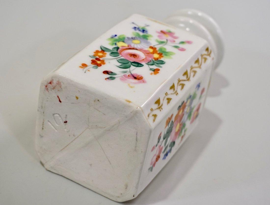 Old Paris Porcelain Cologne Scent Bottle Ground Stopper - 7